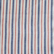 Navy Red Stripe Linen