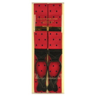 Albert Thurston Luxury Braces with Leather Ends - Red Polka Dot