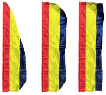 3 Stripe Solid Color Vertical Flag