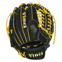 Vinci Pro 22 Series Mesh Back JC3333-22 Baseball Glove Black with Yellow Lace 11.5 inch