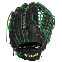 Vinci Pro 22 Series Mesh Back JC3333-22 Baseball Glove Black with Green Welting and Lace 11.5 inch