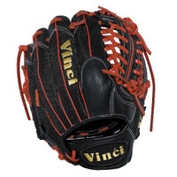 Vinci Pro 22 Series Mesh Back JC3333-22 Baseball Glove Black with Red Welting and Lace 11.5 inch