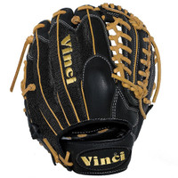 Vinci Pro 22 Series Mesh Back JC3333-22 Baseball Glove Black with Tan Welting and Lace 11.5 inch