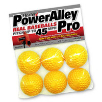 PowerAlley Pro Yellow Dimple Pitching Machine Balls