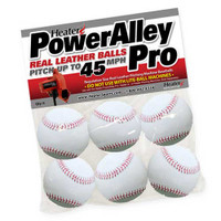 PowerAlley Pro Leather Pitching Machine Baseballs
