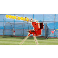 Heater Combo Baseball Softball Pitching Machine & Xtender 24' Batting Cage