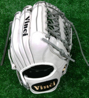 Custom Vinci PC Series 13.5 Inches White/Grey T-Web Lacing