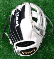 Custom Vinci 13.5 inch Glove White/BlackMesh/Grey Lace