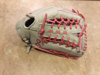 Custom Vinci 13.25 White with Pink Lace Y Web and Breast Cancer Ribbon