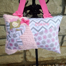 Girls Personalized Tooth Fairy Pillow - Dahlia