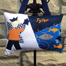 Personalized Boys Tooth Fairy Pillow - sharks