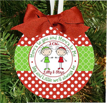 Christmas Ornament – Personalized Sorority Sisters Big and Little Sis