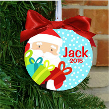 Boys or Girls Santa Christmas Ornament Personalized with Name