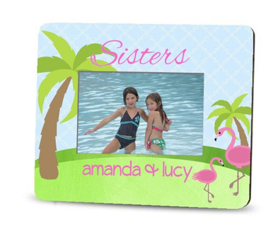 Picture Frame – Personalized sisters / beach flamingos