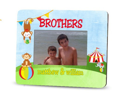 Picture Frame – Personalized brothers / Circus Monkeys