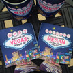 Bachelorette Coolie Koozie Personalized for Can or Bottle – What Happens in Vegas - flat