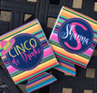 Koozies - Final Flamingle with outer circle - flat