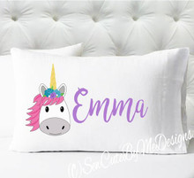 Personalized pillow case - girls teal hearts - case only - pillow not included