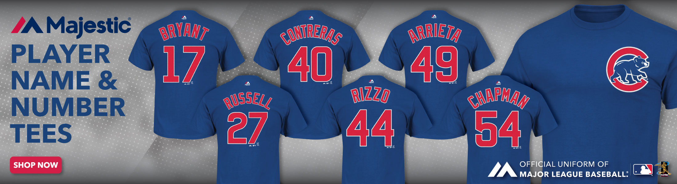 Chicago Cubs Player Shirts at SportsWorldChicago.com