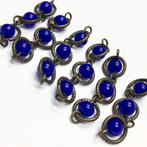 Vintage Japan Blue Floating Bead Chain Lengths