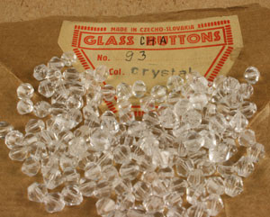 Vintage Czechoslovakian Crystal Bicone - 5mm