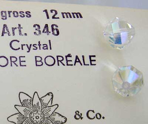 Vintage Swarovski Article #346 12mm Crystal AB-CLOSEOUT BLOWOUT!