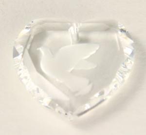 Vintage Swarovski Article #6226 Crystal Heart with Dove