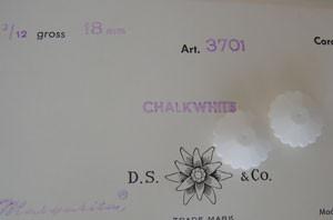 Vintage Swarovski Chalkwhite Margaritas 18mm