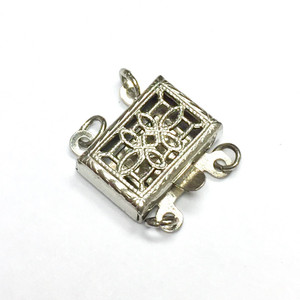 Vintage Double Strand Filigree Box Clasp