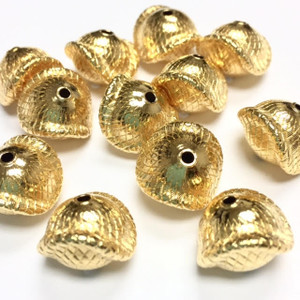 Vintage Miriam Haskell Gold Plated Saturn Beads