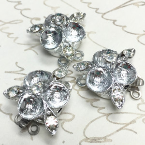 Vintage Rhinestone Clasp Special 3 per Lot Deal!!!