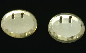 Vintage West German Crystal Mirrored Round Sew on Beads
