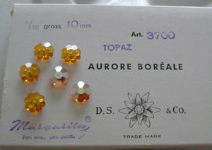 Vintage Swarovski Margaritas - Topaz AB 10mm-CLOSEOUT BLOWOUT!