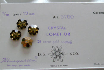 Vintage Swarovski Margaritas Crystal Comet OR 12mm-CLOSEOUT BLOWOUT!