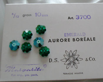 Vintage Swavorski Margaritas - Emerald 10mm-CLOSEOUT BLOWOUT!
