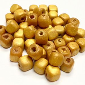 Miriam Haskell Square Wood Beads - Sunflower 5mm