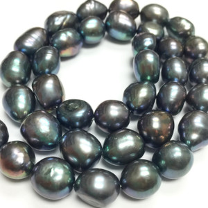 Freshwater Pearl Peacock Nugget Beads - 9-10mm