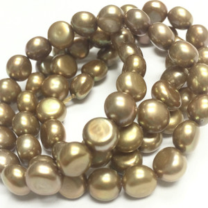 Golden Button Pearls