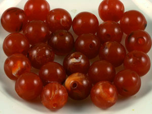 Vintage Lucite Spice Marbled Beads