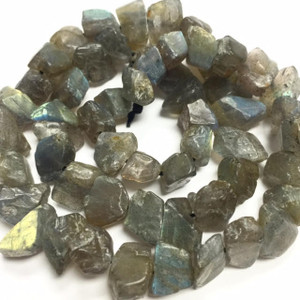 Rough Cut Labradorite Nugget Beads-8-12mm