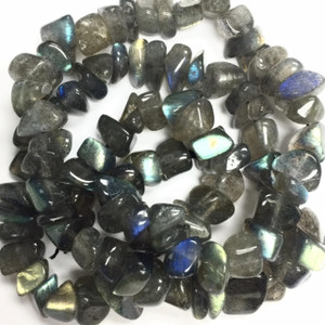 Highly Polished Labradorite Nugget Beads-8-12mm