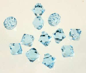 Swarovski Crystal Beads Article #6301 Aquamarine