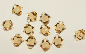 Swarovski Crystal Beads Art # 6301 Lt. Colorado Topaz