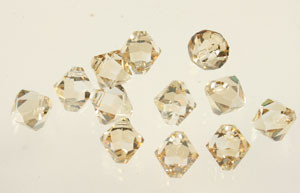 Swarovski Crystal Beads Art # 6301 Golden Shadow