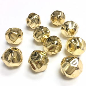 Vintage Dimpled Gold Toned Beads