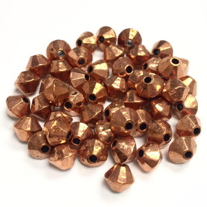Vintage Copper Bicone Beads 5 x 6mm