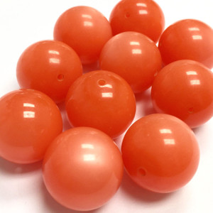Vintage Italian Lucite Rounds - Orange Cream 19mm