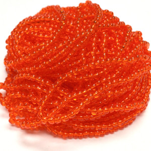 Vintage Czech Orange Ice Seed Bead Hank-Size 10/0