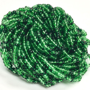 Vintage Czech Seed Bead Hanks-Grass Green