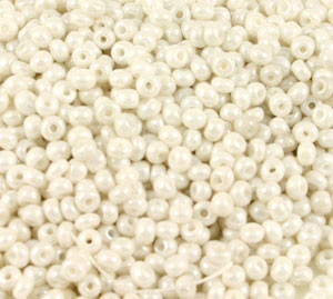 Vintage Czech Seed Beads - 9/0 Pearl White